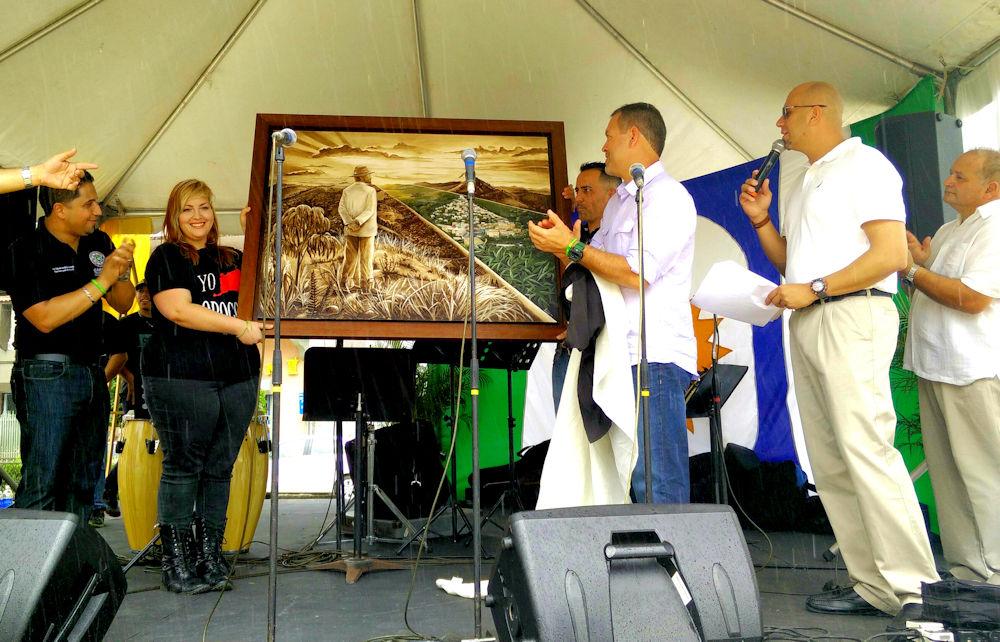 Develación por el alcalde de Orocovis, Hon. Jesús Edgardo
